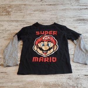 Boys Super Mario shirt size XS 4